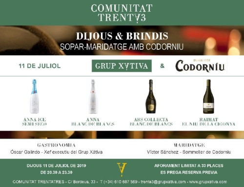 Pairing dinner wit Codorniu